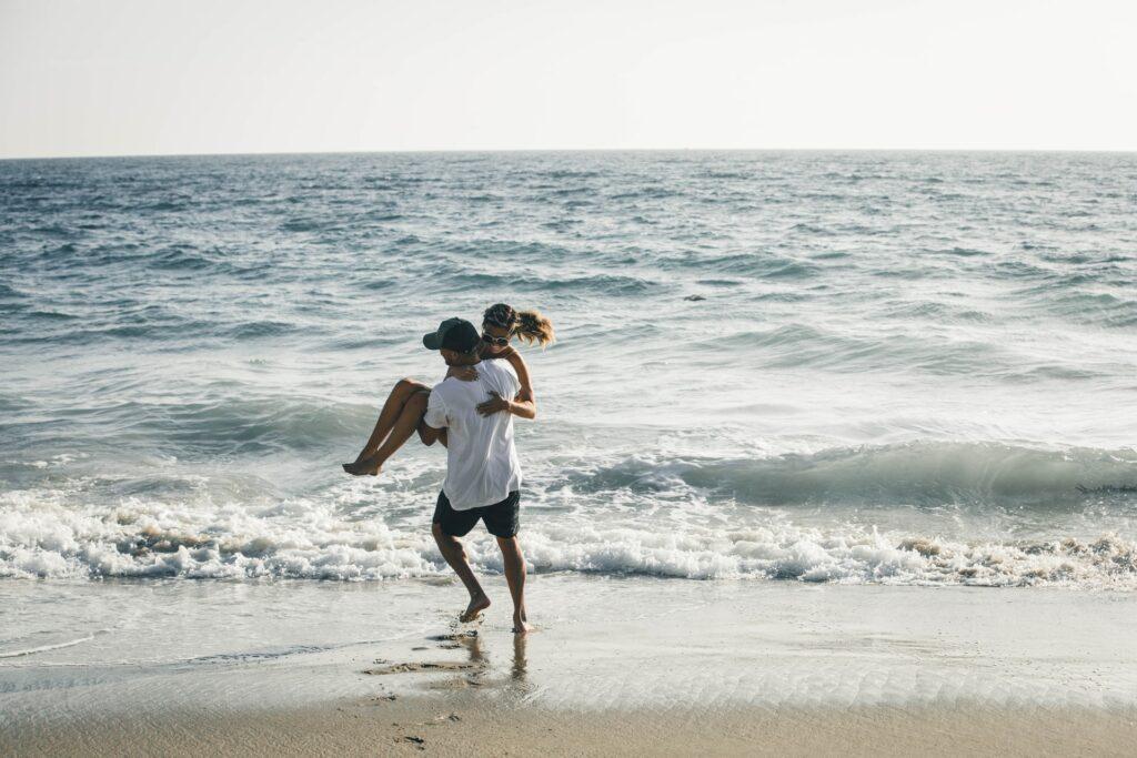 Pärchen am Strand auf Sylt