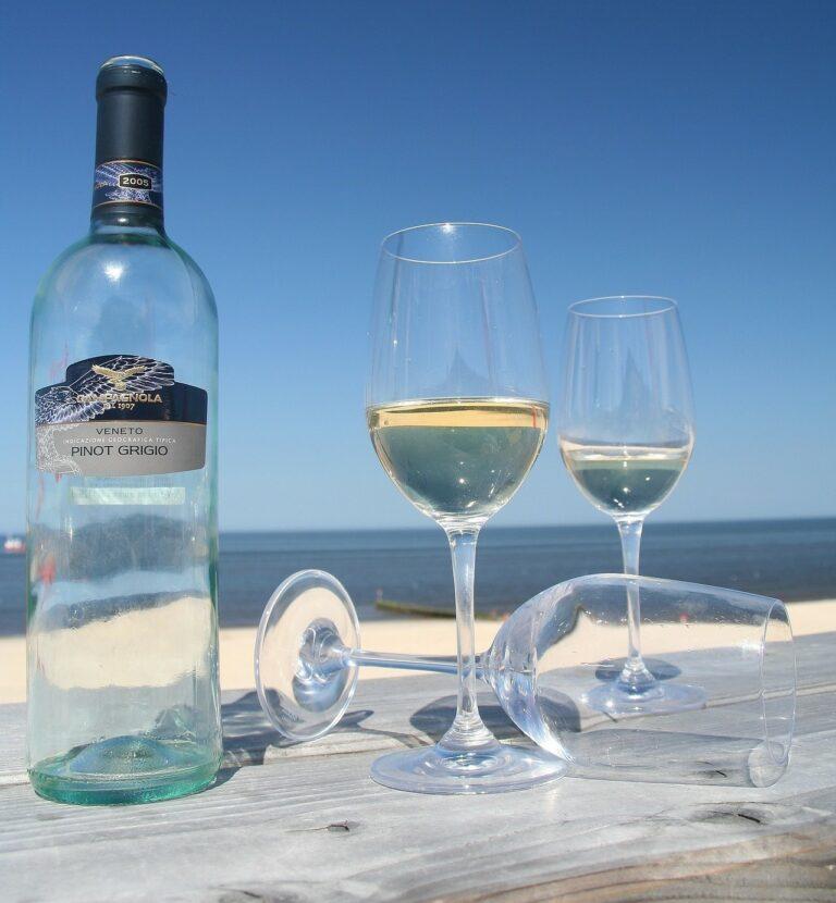 Wein am Strand auf Sylt