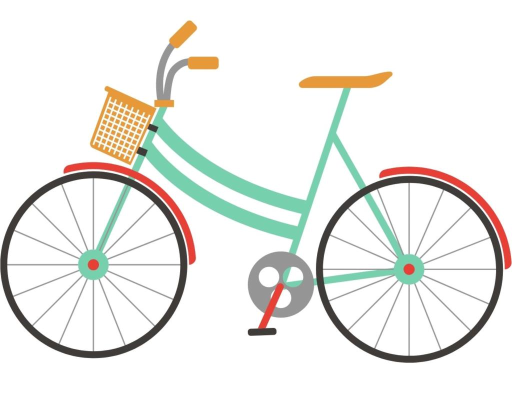 Fahrrad türkis rot